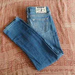 Girls size 8 True Religion skinny jeans 2215